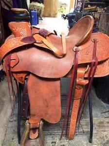 """16"""" Roughed Out Sage Brush Texas Saddle - PRICE DROP"""