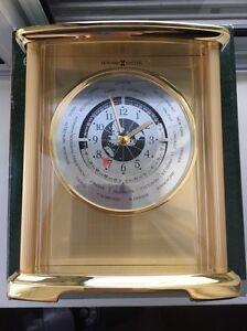 Howard Miller brass world time desk clock NIB