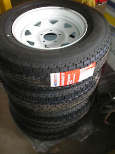 Brand New ST175/80R-13 Trailer Tires On B/New Rims (Balanced)