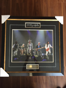 Tragically Hip framed band photo Gordon Downie's last concert
