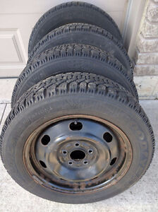 205/60 R16 Goodyear Nordic Winter Tires and Rims