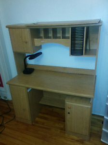 Nice two part desk with compartments