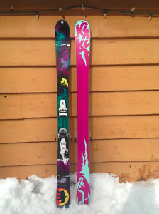 169cm K2 All-Mountain skis with Look Pivot bindings