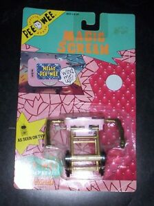 Magic Screen mint on card Pee Wee Herman 1988 wind up toy