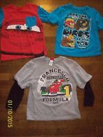 Disney Cars & Angry Birds Tops, Size 5T