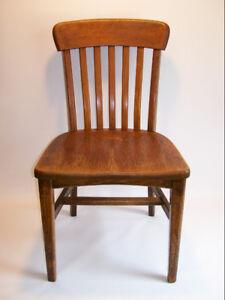 Chaise de Bureau en Chêne - 1960's - Oak Office Chair