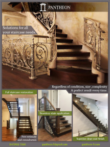 STAIRCASE STAIN and FULL RESTORATION