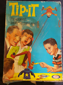Vintage Ideal Tip It Game Boxed c 1965 The Wackiest Balancing Game Ev