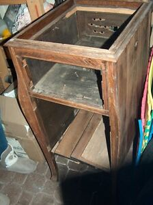 Oak Antique RCA Victroal Talking Machine Cabinet only