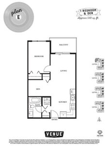 Surrey Central One Bedroom and Den Apartment