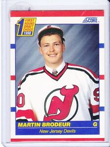 MARTIN BRODEUR, NEW JERSEY DEVILS .... his ONLY ROOKIE CARD