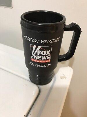 Fox News Channel Black Logo Plastic Coffee Cup Mug Usa