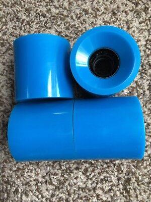 Landyachtz Biggie Hawgs 70mm 78a Super Wide Pro Longboard Wheels Blue
