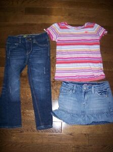 Old Navy Top & Levis Jean and Skirt, Girls 3