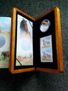 2006 Royal Canadian Mint Sable Island $5 Silver Coin & Stamp Set