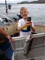 Steelhead fishing on St Marys River, Sault Ste Marie, Ontario