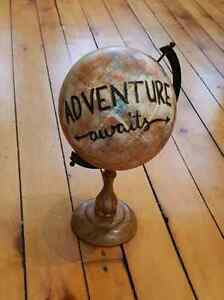 Rustic Antique Globe Decor