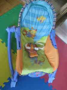 Fisher-Price Infant Bouncer/Toddler Rocker (with a toy bar)