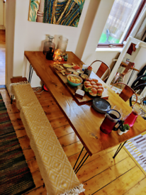 RUSTIC HANDCRAFTED FAMILY DINING TABLES & BENCHES