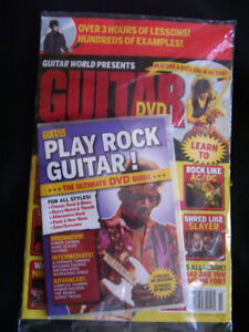 PLAY ROCK GUITAR instructional DVD package