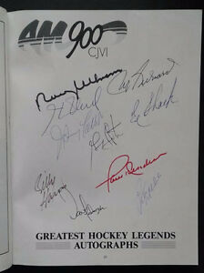 Maurice Richard, Henri Richard, Paul Henderson Signed Program