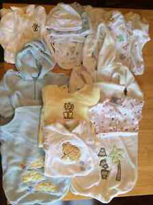 Lot of cozy sleepers and bags. Gender neutral size 3-6 months