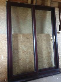 Rosewood patio sliding doors