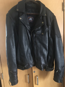 Sofari  Collection Black Leather Motorcycle Jacket Size 54