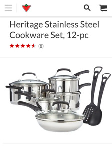Heritage stainless steel pots and pan set
