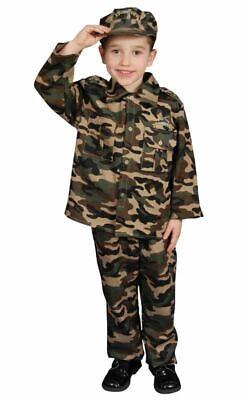 Militär Offizier Overall Armee Tarnfarbe Kostüm Jungen Halloween - Kleinkind Jungen Armee Kostüm