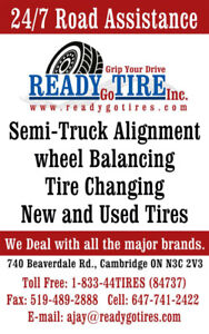 TRUCK TIRE SHOP OPEN 24/7 -REPAIRS- BRAKES- ALIGNMENT-OIL-FAST