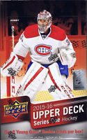 Boîte de cartes de hockey- Upper deck 2015-16