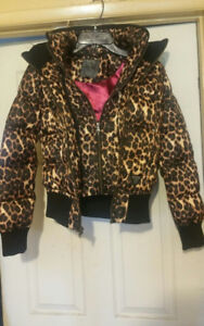 Guess Leopard Print Puffer Jacket Coat Brand New with Tags