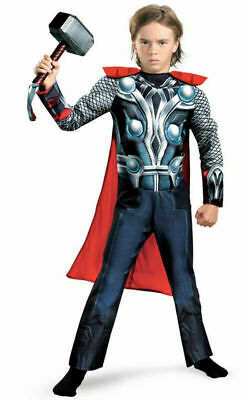 Kids Thor Costume (Child Avengers Thor Muscle)
