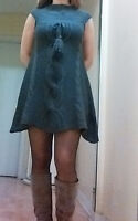 Robe d`hiver - Jupe en jeans / Dress - Skirt -Small-