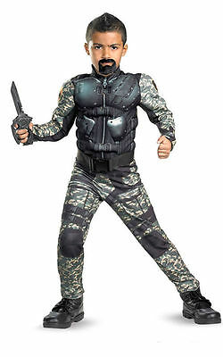 Boys With Muscles (G.I. Joe Roadblock Costume with Muscles for Boys size 4-6 New by Disguise)