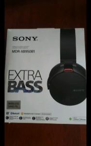 Neuf     Sony Casque Stéréo sans fil   Bluetooth   MDR-XB950B1