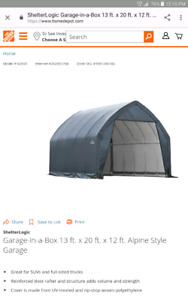 Looking for a frame for a ShelterLogic tent garage 13x20x12 ft