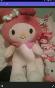 Hello kitty build a bear and plushies.