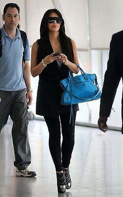 Balenciaga Bleu Azur Blue Leather City Bag $1950 NEW SOLD OUT!!!