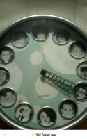 Clock with photo inserts