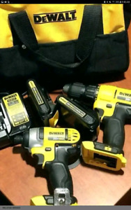 2pc dewalt 20v drill and impact set