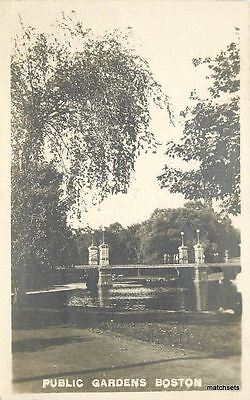 - C-1910 Public Gardens BOSTON Massachusetts Real Photo RPPC postcard 1418