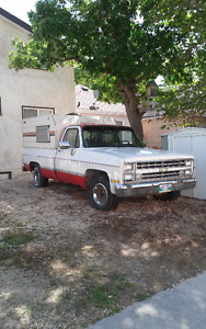 1986 Chevrolet C/K Pickup 1500 Pickup Truck with camper shell
