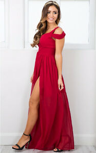 BRAND NEW OCEAN OF ELEGANCE WINE RED MAXI DRESS