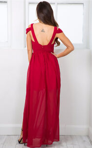 BRAND NEW OCEAN OF ELEGANCE WINE RED MAXI DRESS Kitchener / Waterloo Kitchener Area image 2