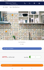 Wall tiles from walls and floors online. Lucy Flowered Decor Tile