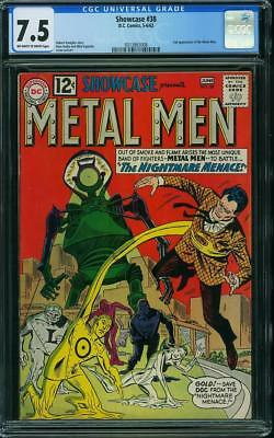 Showcase #38 CGC 7.5 DC 1962 2nd Metal Men! Key Silver Age Book! G7 318 cm