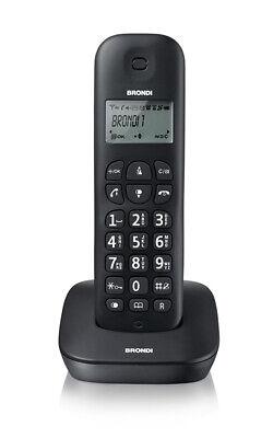 Teléfono sin Cable Brondi Gala Negro Fijo Página de Inicio Ancho Display