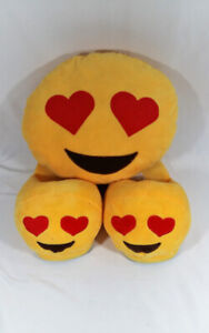 Emogi Slippers and Plush Face Love Hearts Pop Culture Bedroom